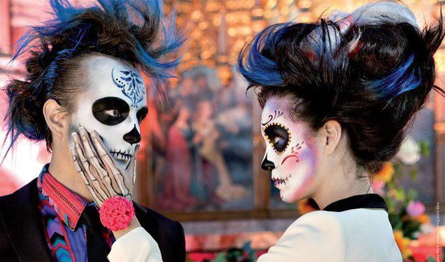 London body paint, Lauren Kay, day of the dead, sugar skull, make up artist,
